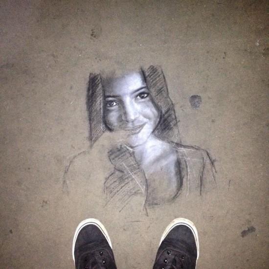 Street Art in Trafalgar Square