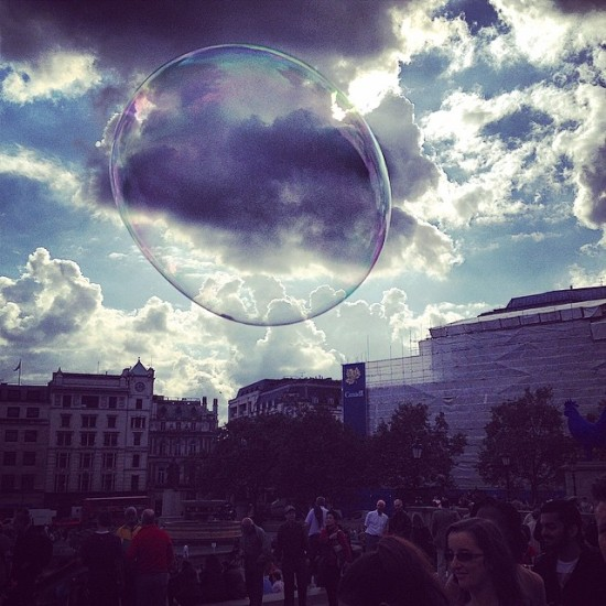 Bubble In Trafalgar Square