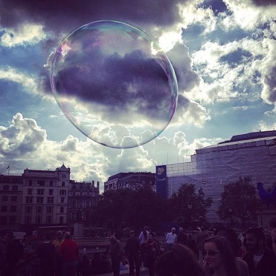 Bubble In Trafalgar Square