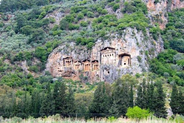 Lycian Rock Tombs, Dalyan - Turkey.