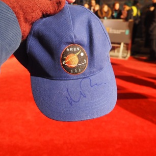 The Martian Cap signed by Matt Damon on the #EEBAFTAs Red Carpet 2016 taken on an Olympus OMD EM10