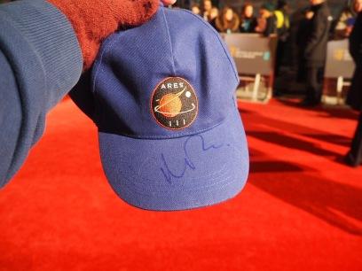 The Martian Cap signed by Matt Damon on the #EEBAFTAs Red Carpet 2016 taken on an Olympus OMD EM10