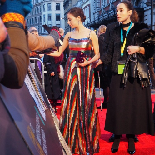 Bel Powley signing on the #EEBAFTAs Red Carpet 2016 taken on an Olympus OMD EM10