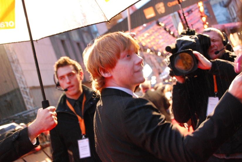 Rupert Grint on the 2011 BAFTA Red Carpet